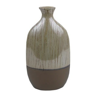 FireFly Brown/Light Brown Ceramic Vase