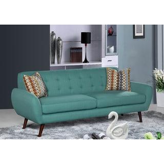 Alayna Linen Mid Century Living Room Sofa
