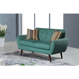 Alayna Linen Modern Living Room Loveseat