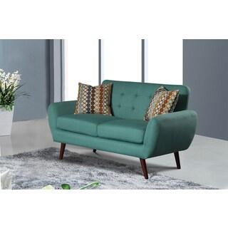 alayna linen modern living room loveseat