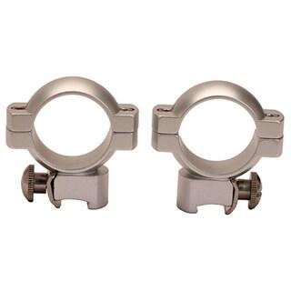Weaver Medium Silver Aluminum 1-inch Main-tube Ring Pair for .22 Rifles