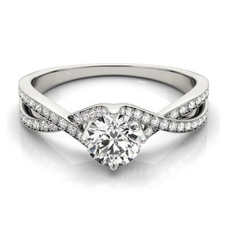 14k Gold 3/4ct TDW Diamond Split Shank Engagement Ring (G-H, VS1-VS2)