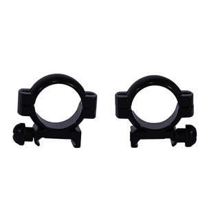 Weaver Gloss Black Aluminum 1-inch Main Tube Medium Mounting Ring Pair