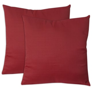 Square Hypoallergenic 18 x 18-inch Solid Throw Pillow Pair (Set of 2)
