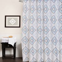 "Fabric Shower Curtain With Modern Geometric Print (70""x70"")"