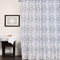 "Fabric Shower Curtain With Modern Geometric Print (70""x70"")"