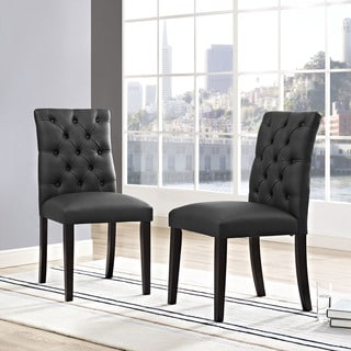 Duchess Tufted Vinyl Dining Chair