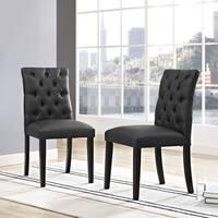 Duchess Tufted Vinyl Dining Chair