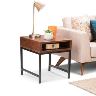 WYNDENHALL Colbert Russet Brown End Side Table