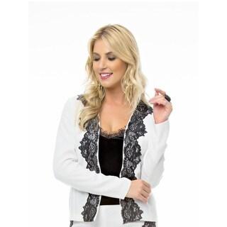 Sara Boo Lace Blazer and Velvet Undershirt Set
