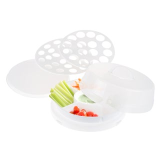 Classic Cuisine 4-in-1 Party Tray Travel Set - Veg & Dip, Bakery, Eggs