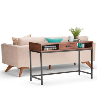 WYNDENHALL Colbert Russet Brown Console Sofa Table
