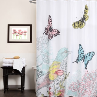 Curtains Ideas butterfly shower curtain : Butterfly Printed Cotton Shower Curtain - Free Shipping On Orders ...