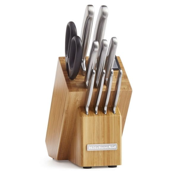 KitchenAid Stainless Steel Brushed Classic Forged Knife Block Set (12-piece). Opens flyout.