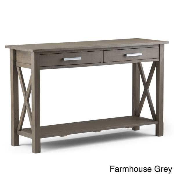 WYNDENHALL Waterloo SOLID WOOD 47 inch Wide Contemporary Console Sofa Table - 47.4 Inches wide - 47.4 Inches wide. Opens flyout.