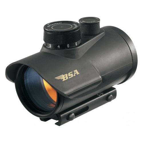 BSA Black 42mm 5 MOA Clam Pack Red-dot Gun Sight