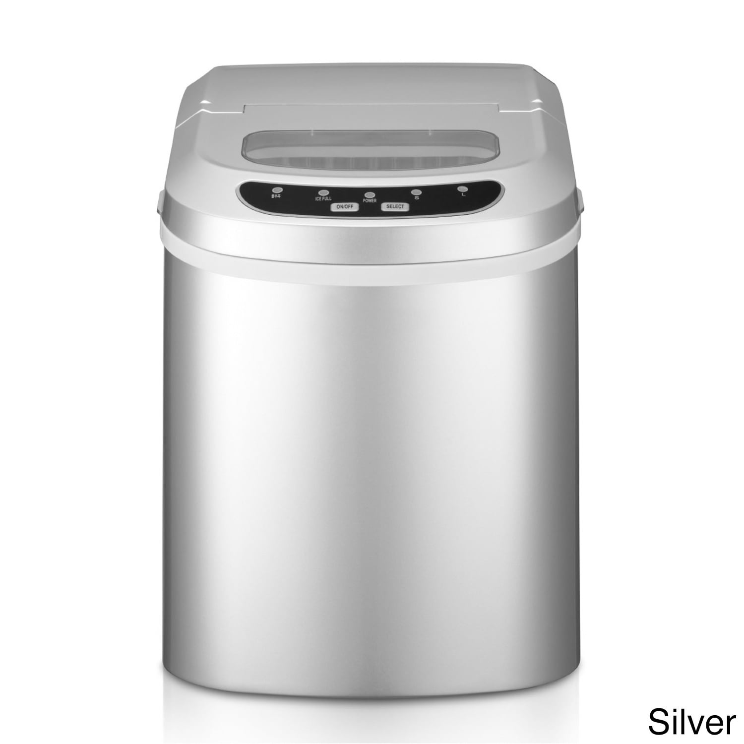 Magic Chef 27 Pound Portable Ice Maker (Silver) (Plastic)
