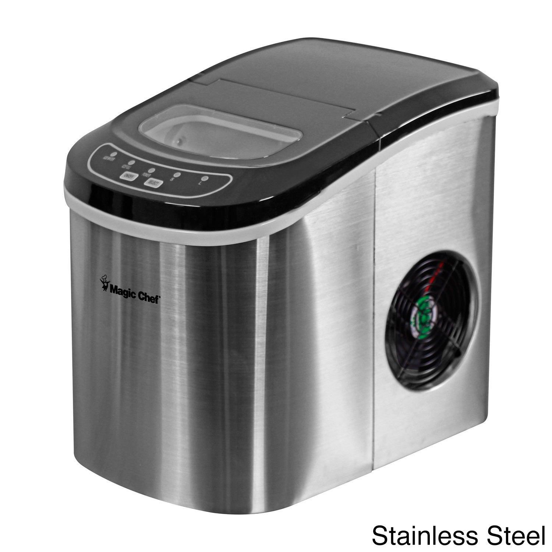 Magic Chef 27-Lb Portable Countertop Ice Maker in Silver