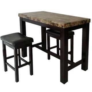 Rocco 3 Piece Rectangle Table Pub Set