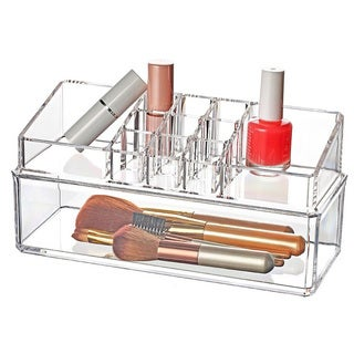 Ikee Design Acrylic Jewelry and Makeup Stackable Organizing Trays (Set of 2)