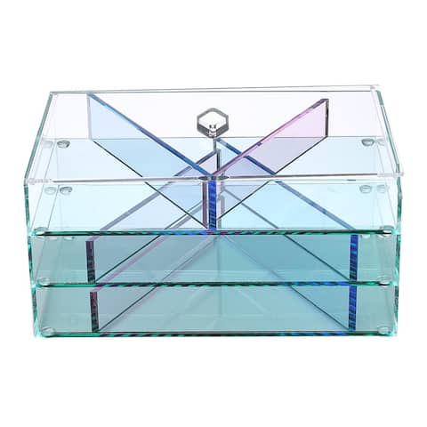 Glasslike Acrylic Jewelry and Makeup Organizer - Clear