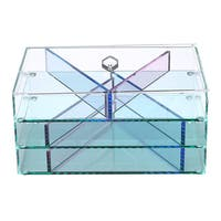 Ikee Design Glasslike Acrylic Jewelry and Makeup Organizer