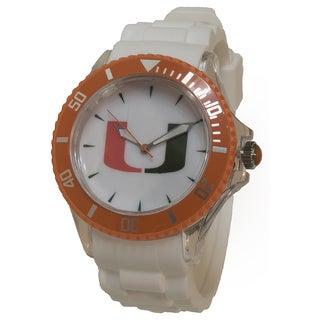 University of Miami White Silicone Sporty Watch