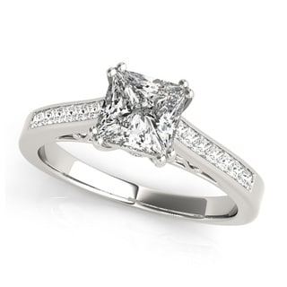 14k Gold 3/4ct TDW Diamond Classic Princess-cut Engagement Ring (G-H, VS1-VS2)