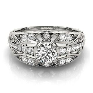14k Gold 3/4ct TDW Diamond Vintage Style Engagement Ring (F-G, VS1-VS2)