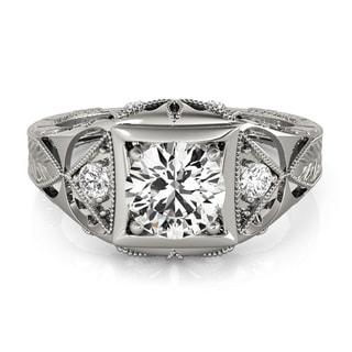 14k Gold 1/2ct TDW Diamond Vintage Style Engagement Ring (G-H, VS1-VS2)