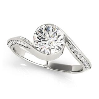 14k Gold 3/4ct TDW Diamond Eternity Halo Engagement Ring (G-H, VS1-VS2)