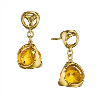 Di Modolo 18k Yellow Goldplated Sterling Silver Golden Quartz Drop Earrings