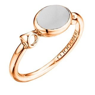 Di Modolo 18k Rose Goldplated Sterling Silver White Agate Ring