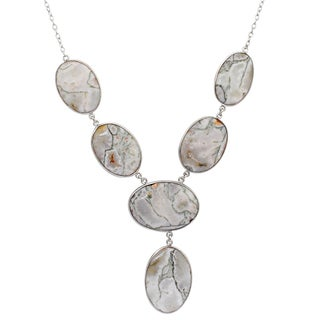 Orchid Jewelry 925 Sterling Silver 172 1/4 Carat Jasper Necklace