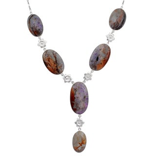 Orchid Jewelry 925 Sterling Silver 205.1 Carat Jasper Necklace
