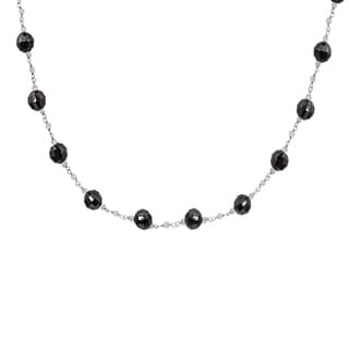 Orchid Jewelry 925 Sterling Silver 110 Carat Garnet and Crystal Quartz Necklace