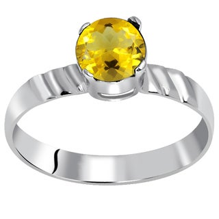 Orchid Jewelry 925 Sterling Silver 7/9 Carat Citrine Birthstone Ring