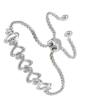 Sterling Silver 0.06ct Round-cut Diamond Bolo Chain Bracelet (H-I, I2-I3)