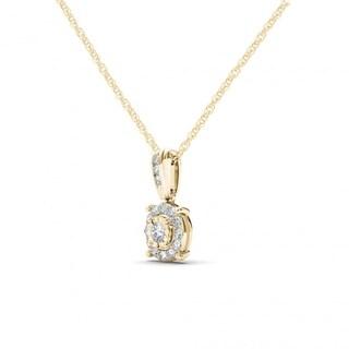 De Couer 10K Yellow Gold 1/4ct TDW Diamond Necklace