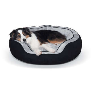 K&H Pet Products Round n' Plush Bolster Dog Bed