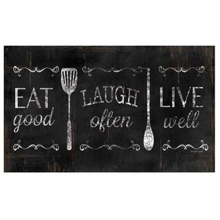 "Home Dynamix Designer Chef Collection Anti-Fatigue Black/Multicolor Kitchen Mat ( 24"" x 36"")"