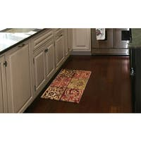 Home Dynamix Designer Chef Collection Anti-Fatigue Red/Multicolor Kitchen Mat - 2' x 3'