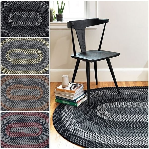 Hipster Braided Reversible Rug USA MADE - 7' x 9'