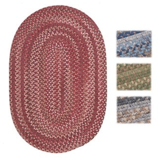 Wool Spacedye Oval Braided Accent Rug (1'10 x 2'10)