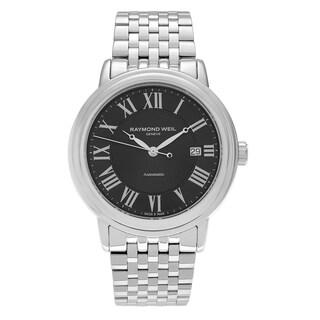 Raymond Weil Men's 'Maestro' 2847-ST-00209 Stainless Steel Roman Numeral Link Bracelet Watch