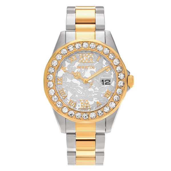 Shop Invicta Women S 22871 Disney Two Tone Stainless Steel