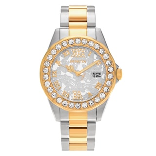 Invicta Women's 22871 Disney Two Tone Stainless Steel Rhinestone Dial Link Bracelet Watch