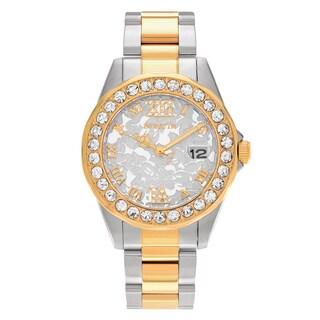 Invicta Women's 22871 Disney Two Tone Stainless Steel Rhinestone Dial Link Bracelet Watch