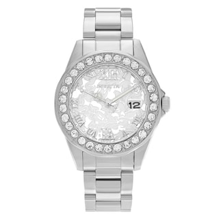 Invicta Women's 22869 Disney Stainless Steel Rhinestone Roman Numeral Dial Link Bracelet Watch
