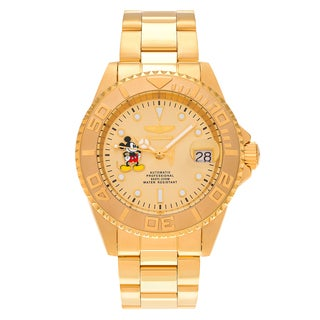 Invicta Men's 22779 Disney Gold Tone Mickey Mouse Dial Stainless Steel Link Bracelet Watch